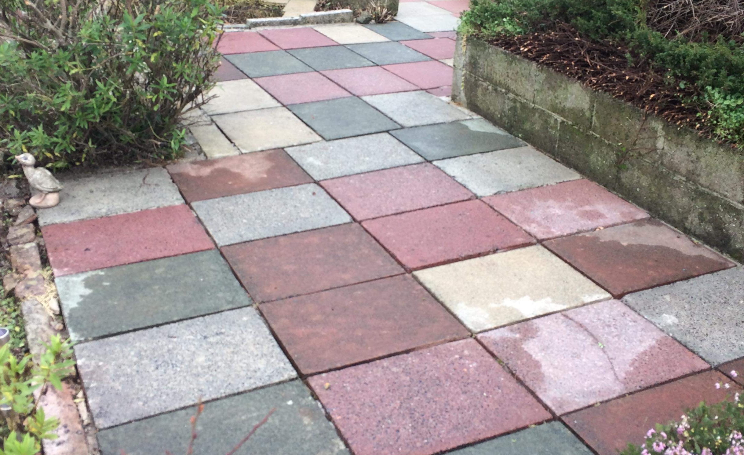 Greener-Ways offer a Whirl-A-Way Pressure Washing service for block paving and other areas.